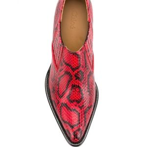 Chloé red leather shoes